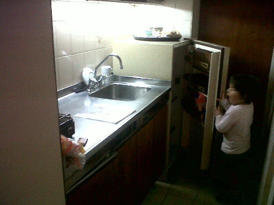 Providencia Apart Hotel: cocina chica y vieja