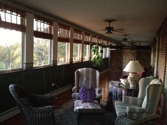 Killahevlin: sun porch that is part of the room