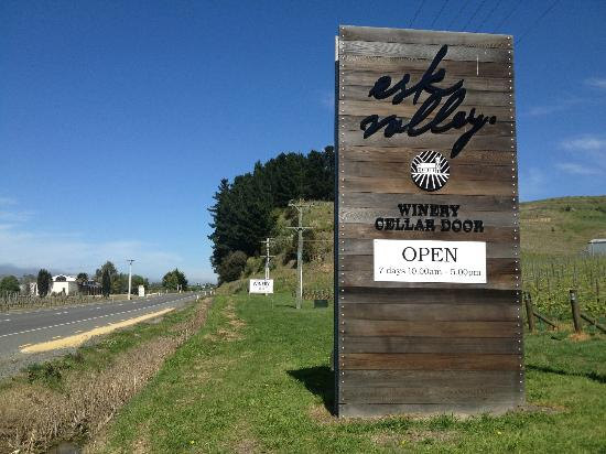 Esk Valley Winery: View from the road