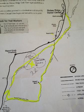Photo of the hiking map for Dickey Ridge Trail