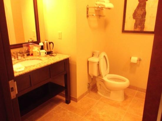 Bear River Casino Hotel: Bathroom showers only- no tubs