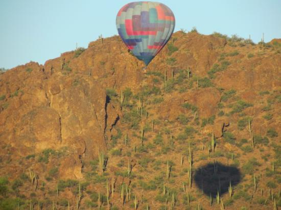 Foolish Pleasure Hot Air Balloon Rides: Our shadow on Sombrero Peak