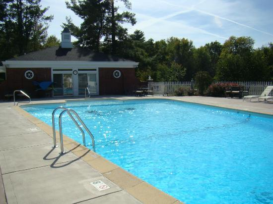 Inn on Crescent Lake: The pool and pool house with massage room.