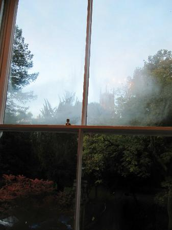 Glendon Guest House: View from our room on a foggy day