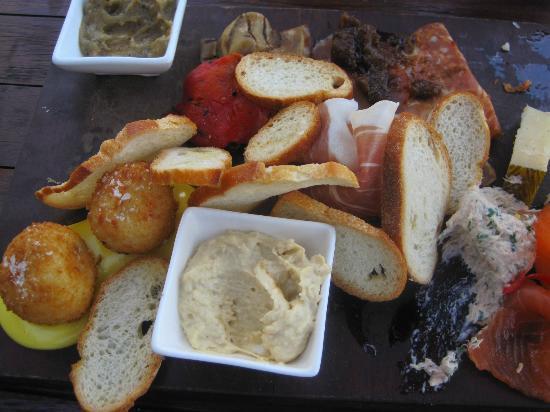 Stillwater at Crittenden: Vignerons Tasting Platter......half eaten