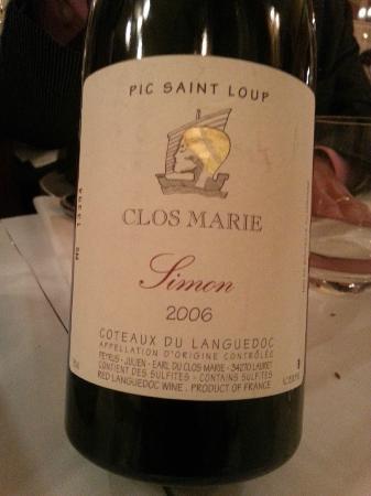 LE BISTROT D ARIANE : Fantastic wine
