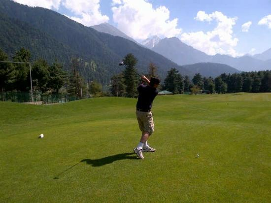 Pahalgam, India: At the course...