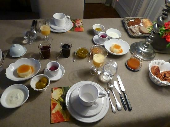 La Chambre d'Hugo : Our lovely breakfast!