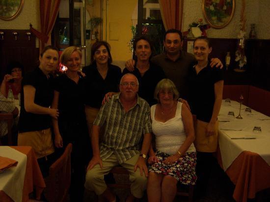 Ristorante Biri: Geoff, Margaret and Staff.