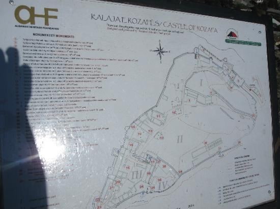 Map of Rozafa Castle Picture of Rozafa Castle Shkoder TripAdvisor