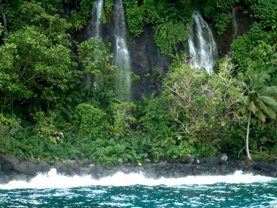 Taveuni Island Resort & Spa: Coastline waterfalls