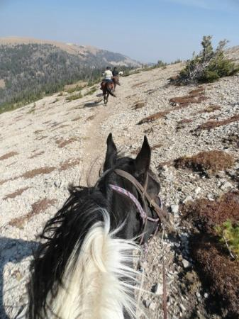 Covered Wagon Ranch: Coming up over Snowslide Mountain