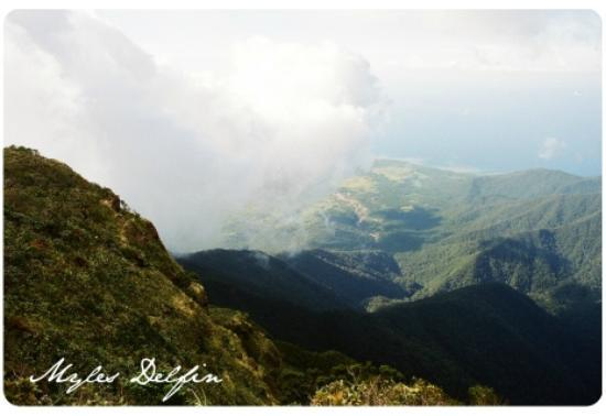 Mt Guiting-Guiting: View of the coastline of Sibuyan Island from Guiting-guiting