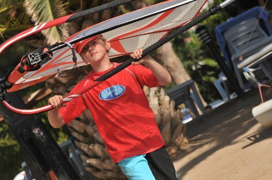 Bodrum Seaside Beach Club: Excellent Kids windurfing equipment