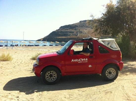 Mitsis Faliraki Beach Hotel: Our high car