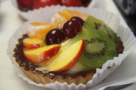 Zest: One of our wide selection of locally produced cakes and pastries.