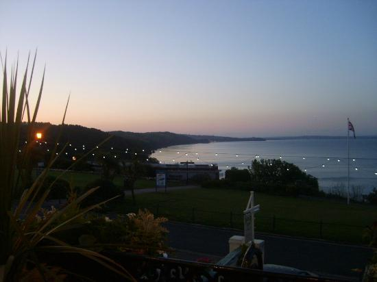 Headland View: Sunset over the headlands - a view from our balcony!