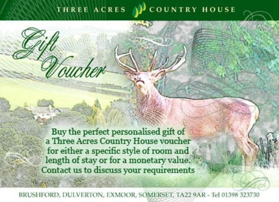 Three Acres Country House: The perfect present of a Three Acres Gift Voucher