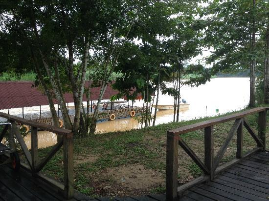 Bilit Rainforest Lodge: The view to jetty aka arriving hall