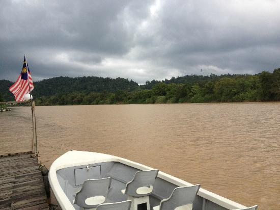 Bilit Rainforest Lodge: The boat that pick us up and send us back