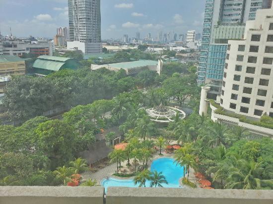 Edsa Shangri-La: View from room, overlooking pool