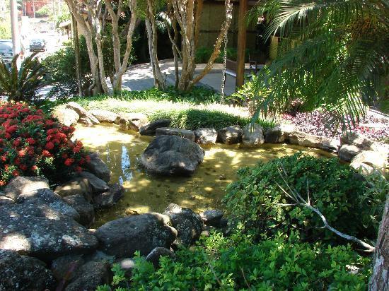 Hotel La Foret: El jardincito del frente de la pousada
