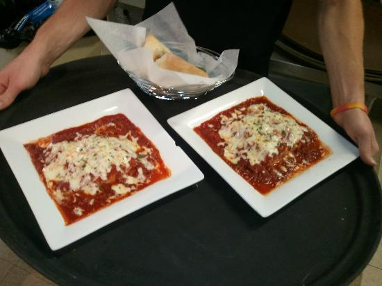 Pino's Italiano & Grill: 2 fresh baked entrees bellissimi!