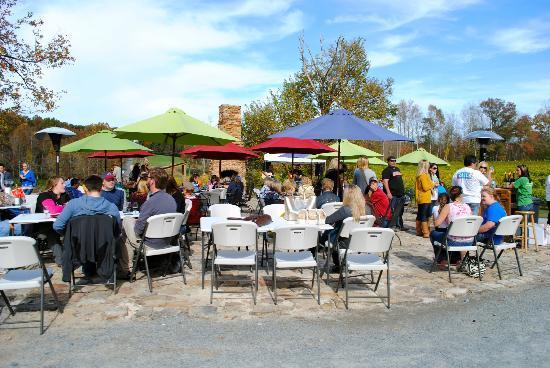 Cartecay Vineyards: Beautiful outdoor setup to enjoy views and live music