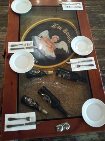 Fourquet Fourchette: the tabletops are impressive