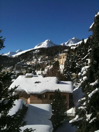 Carlton Hotel St. Moritz: Aussicht
