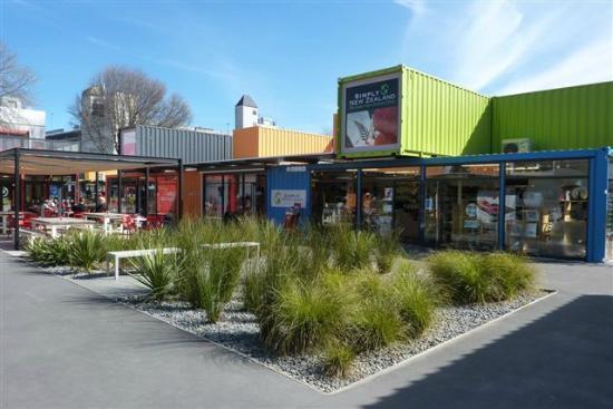 توسكانا موتور لودج: 'Container Town' Christchurch 
