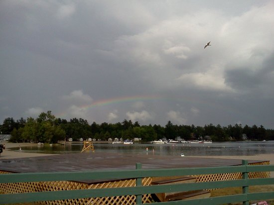 Point Sebago: Rainbow off of Laggon Beach. Aug, 2012