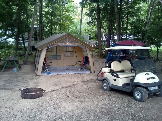 Point Sebago : my campsite. Aug. 2012