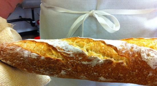 Pine Street Bakery : If only this were a scratch and sniff photo!  Fresh baguette.