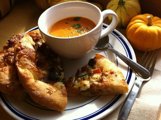 Pine Street Bakery : Gorgonzola, sage, butternut squash focaccia and herbed tomato soup