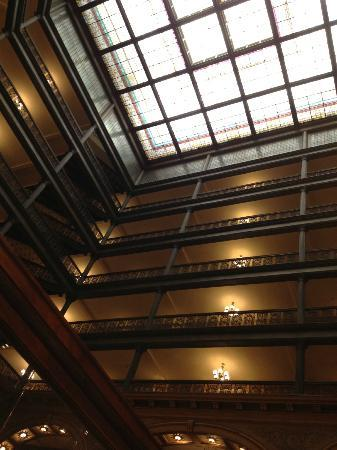 The Brown Palace Hotel and Spa, Autograph Collection: Looking up from one of the midway floors.