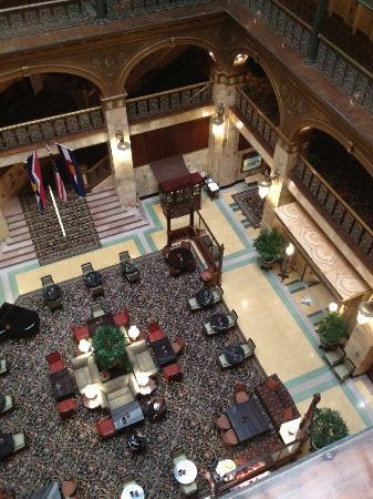 The Brown Palace Hotel and Spa, Autograph Collection: Looking down into lobby from our 6th floor.