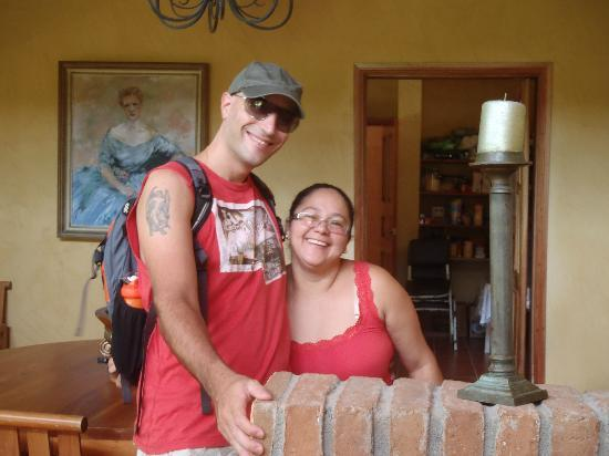 La Villa de Soledad B&B: Mrs Sole posing with us