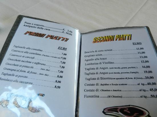 Trattoria Norma: menu' prezzi