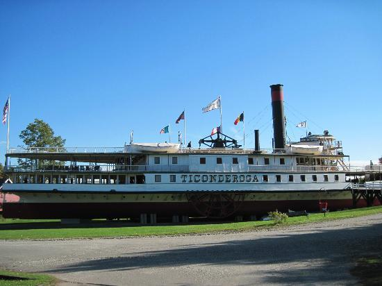 Shelburne Museum: The steamship Ticonderoga was moved here and restored.