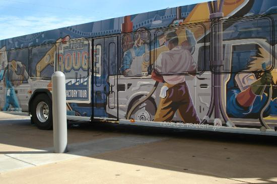 Ford Rouge Factory Tour: This bus takes you to the Rouge tour