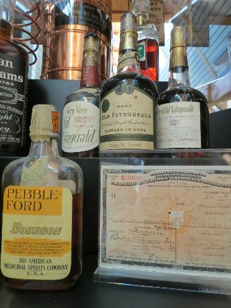 "Heaven Hill Bourbon Heritage Center: prohibition era prescription and ""medicine"" bottle"