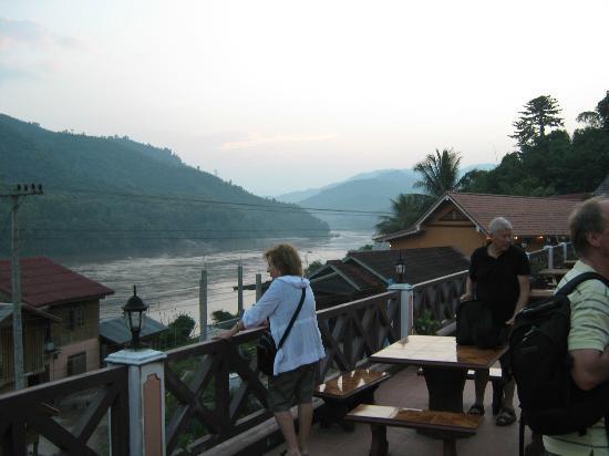 Phetsokxai Hotel Pakbeng: the Mekong from the terrace