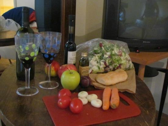 Agriturismo Lecanfore: food from market to make ourself a nice salad