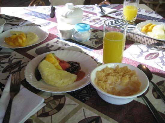 Le Jacaranda Hotel: 朝食