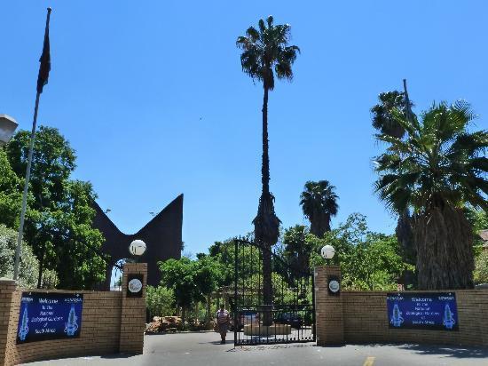 Pretoria, Afrika Selatan: Zoo entrance