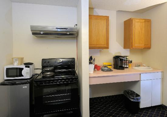Regency Inn and Suites West Springfield: Sky-Light King Suite with Cook Range