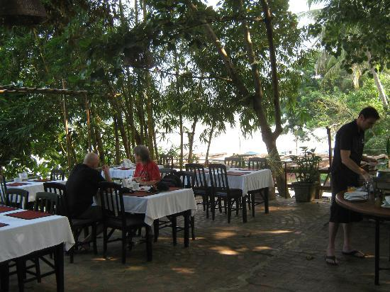 Sala Prabang breakfast terrace (and café)