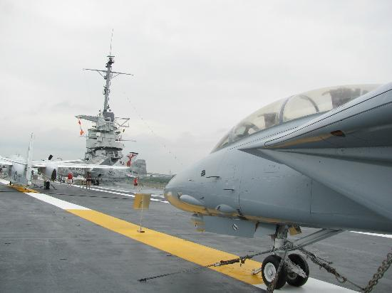 Patriots Point Naval & Maritime Museum: On the flight deck of the Yorktown
