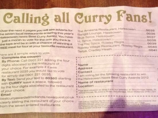 Bangla Lounge Restaurant: calling all curry fans